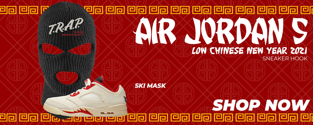 Air Jordan 5 Low Chinese New Year 2021 Ski Masks to match Sneakers | Winter Masks to match Nike Air Jordan 5 Low Chinese New Year 2021 Shoes