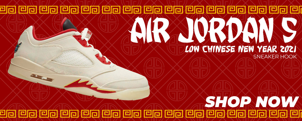 Air Jordan 5 Low Chinese New Year 2021 Clothing to match Sneakers | Clothing to match Nike Air Jordan 5 Low Chinese New Year 2021 Shoes