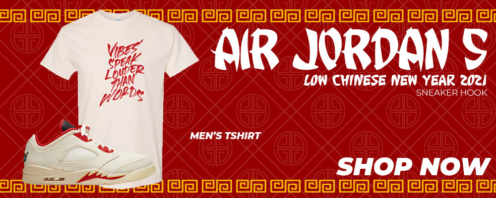 Air Jordan 5 Low Chinese New Year 2021 T Shirts to match Sneakers | Tees to match Nike Air Jordan 5 Low Chinese New Year 2021 Shoes