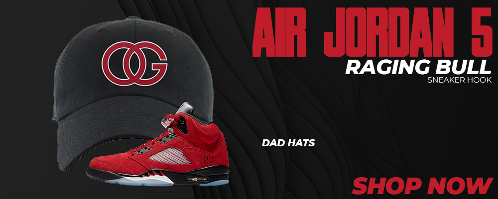 Air Jordan 5 Raging Bull Dad Hats to match Sneakers | Hats to match Nike Air Jordan 5 Raging Bull Shoes