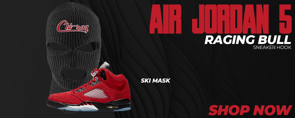 Air Jordan 5 Raging Bull Ski Masks to match Sneakers | Winter Masks to match Nike Air Jordan 5 Raging Bull Shoes