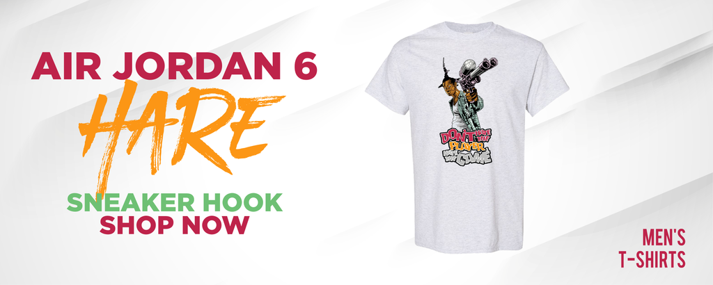 Air Jordan 6 Hare T Shirts to match Sneakers | Tees to match Nike Air Jordan 6 Hare Shoes
