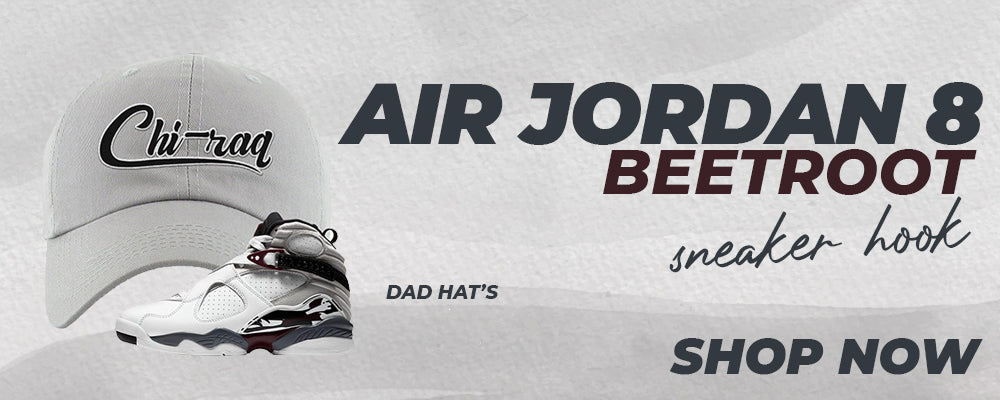 Air Jordan 8 Beetroot Dad Hats to match Sneakers | Hats to match Nike Air Jordan 8 Beetroot Shoes