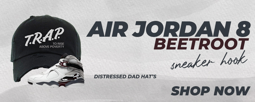 Air Jordan 8 Beetroot Distressed Dad Hats to match Sneakers | Hats to match Nike Air Jordan 8 Beetroot Shoes