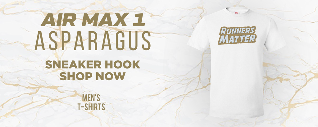 Air Max 1 Asparagus T Shirts to match Sneakers | Tees to match Nike Air Max 1 Asparagus Shoes