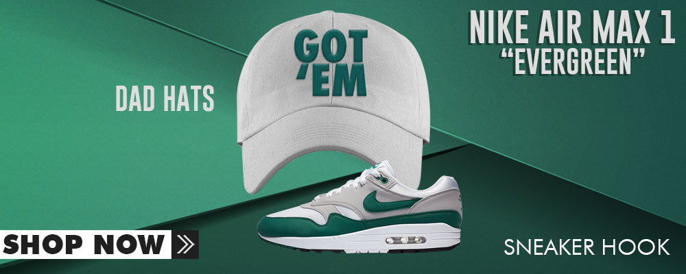 Air Max 1 Evergreen Dad Hats to match Sneakers | Hats to match Nike Air Max 1 Evergreen Shoes