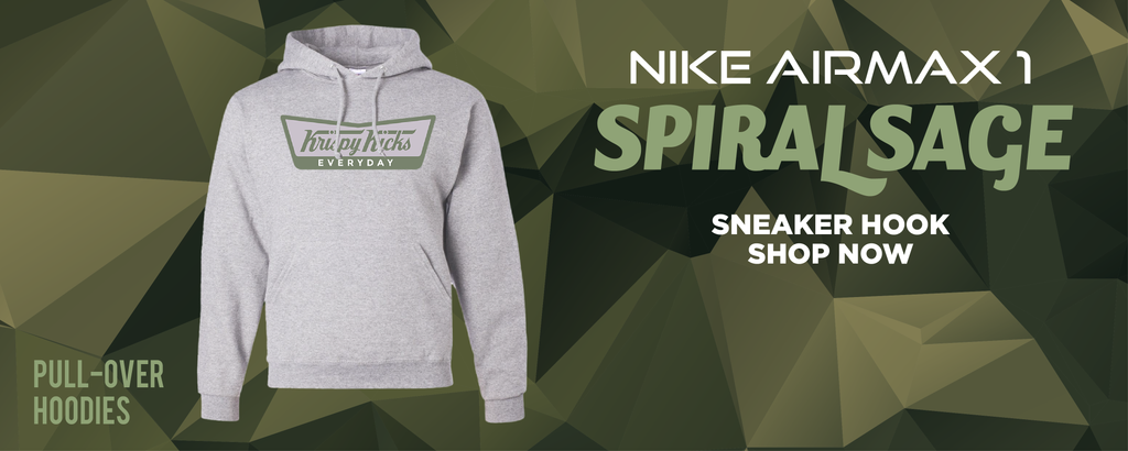 Air Max 1 Spiral Sage Pullover Hoodies to match Sneakers | Hoodies to match Nike Air Max 1 Spiral Sage Shoes