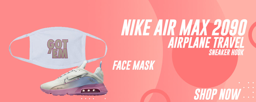 Air Max 2090 Airplane Travel Face Mask to match Sneakers | Masks to match Nike Air Max 2090 Airplane Travel Shoes