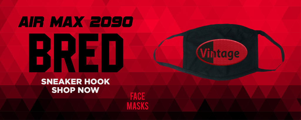 Air Max 2090 Bred Face Mask to match Sneakers | Masks to match Nike Air Max 2090 Bred Shoes