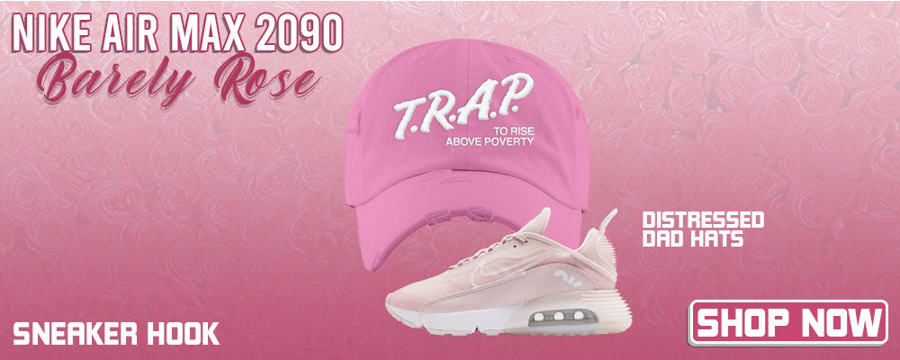Air Max 2090 'Barely Rose' Distressed Dad Hats to match Sneakers | Hats to match Nike Air Max 2090 'Barely Rose' Shoes