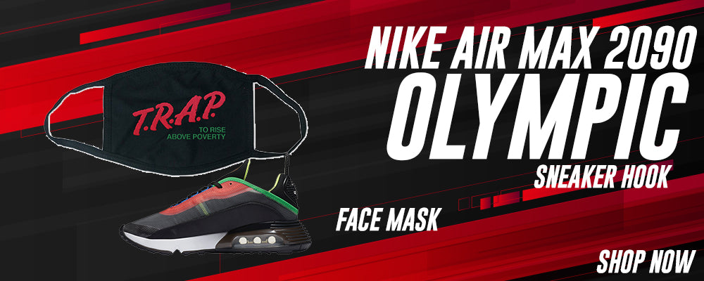 Air Max 2090 Olympic Face Mask to match Sneakers | Masks to match Nike Air Max 2090 Olympic Shoes