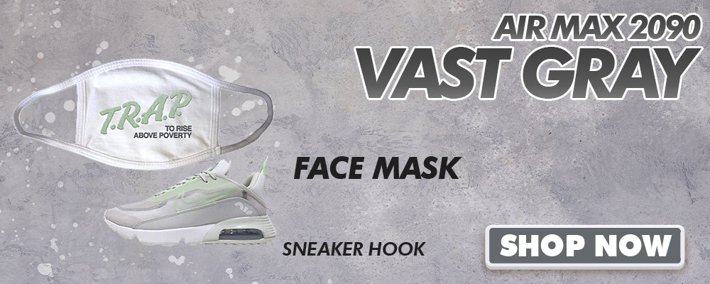 Air Max 2090 'Vast Gray' Face Mask to match Sneakers | Masks to match Nike Air Max 2090 'Vast Gray' Shoes