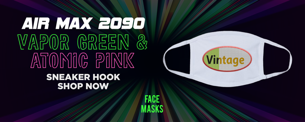 Air Max 2090 Vapor Green And Atomic Pink Face Mask to match Sneakers | Masks to match Nike Air Max 2090 Vapor Green And Atomic Pink Shoes