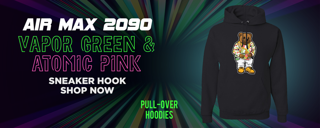 Air Max 2090 Vapor Green And Atomic Pink Pullover Hoodies to match Sneakers | Hoodies to match Nike Air Max 2090 Vapor Green And Atomic Pink Shoes
