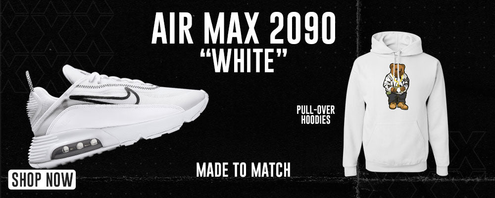 Air Max 2090 White Pullover Hoodies to match Sneakers   Hoodies to match Nike Air Max 2090 White Shoes