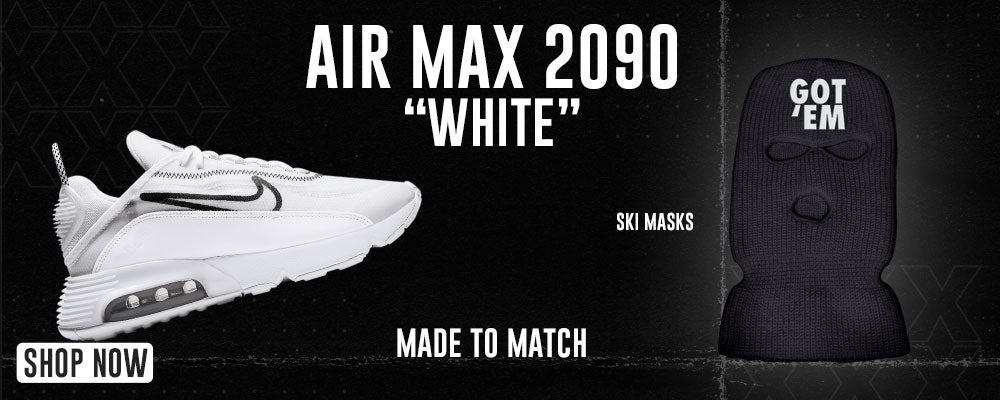 Air Max 2090 White Ski Masks to match Sneakers   Winter Masks to match Nike Air Max 2090 White Shoes