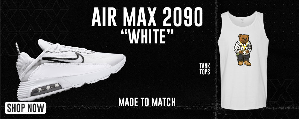 Air Max 2090 White Tank Tops to match Sneakers   Tanks to match Nike Air Max 2090 White Shoes