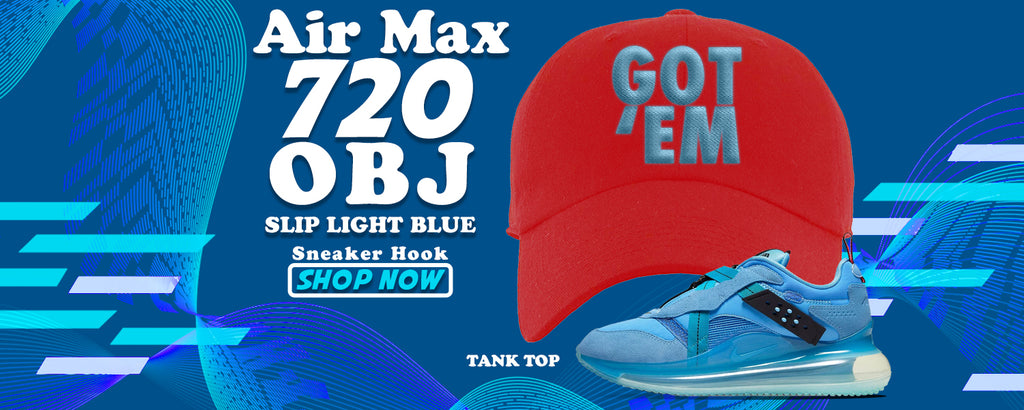 Air Max 720 OBJ Slip Light Blue Dad Hats to match Sneakers | Hats to match Nike Air Max 720 OBJ Slip Light Blue Shoes