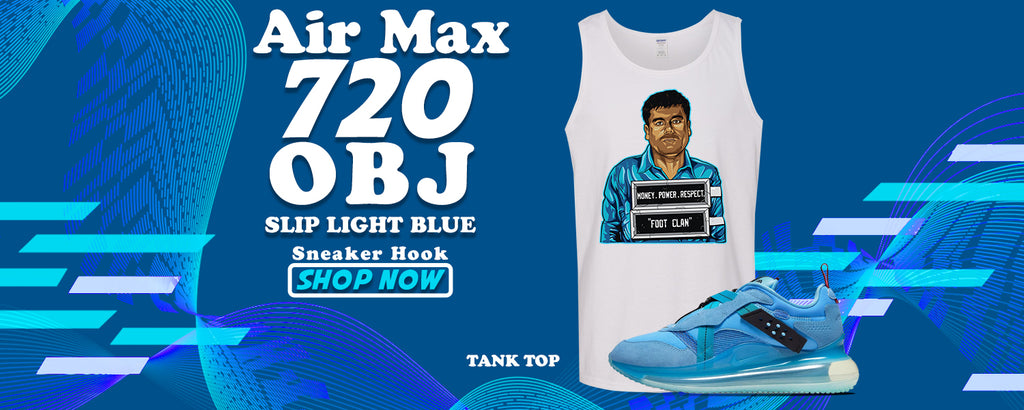Air Max 720 OBJ Slip Light Blue Tank Tops to match Sneakers | Tanks to match Nike Air Max 720 OBJ Slip Light Blue Shoes