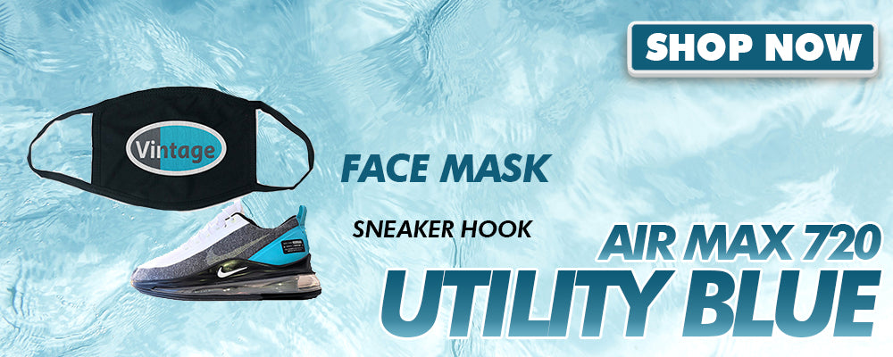 Air Max 720 Utility Blue Face Mask to match Sneakers | Masks to match Nike Air Max 720 Utility Blue Shoes