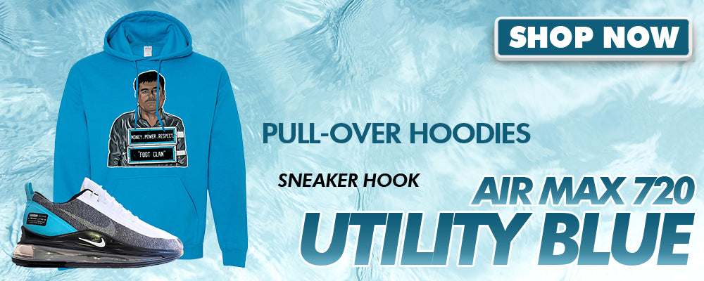 Air Max 720 Utility Blue Pullover Hoodies to match Sneakers | Hoodies to match Nike Air Max 720 Utility Blue Shoes