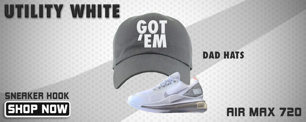 Air Max 720 Utility White Dad Hats to match Sneakers | Hats to match Nike Air Max 720 Utility White Shoes