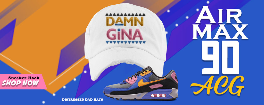 Air Max 90 ACG Distressed Dad Hats to match Sneakers | Hats to match Nike Air Max 90 ACG Shoes