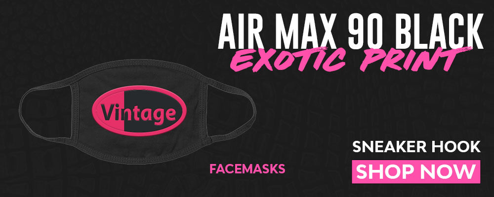 Air Max 90 Black Exotic Print Face Mask to match Sneakers | Masks to match Nike Air Max 90 Black Exotic Print Shoes