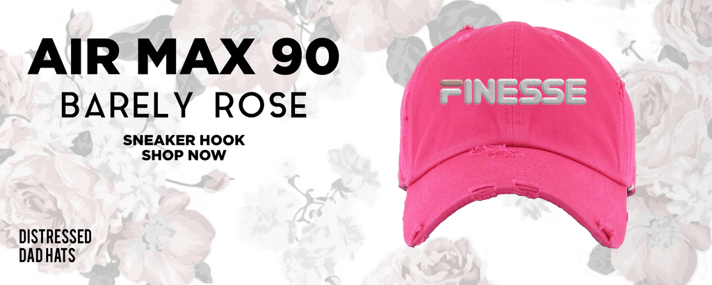 Air Max 90 'Barely Rose' Distressed Dad Hats to match Sneakers   Hats to match Nike Air Max 90 'Barely Rose' Shoes