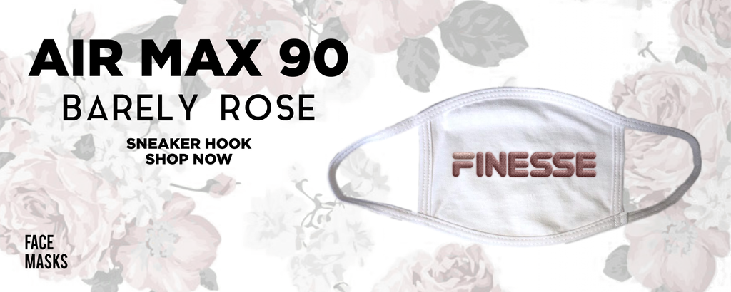 Air Max 90 'Barely Rose' Face Mask to match Sneakers   Masks to match Nike Air Max 90 'Barely Rose' Shoes