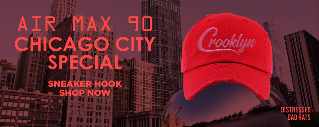 Air Max 90 Chicago City Special Distressed Dad Hats to match Sneakers | Hats to match Nike Air Max 90 Chicago City Special Shoes