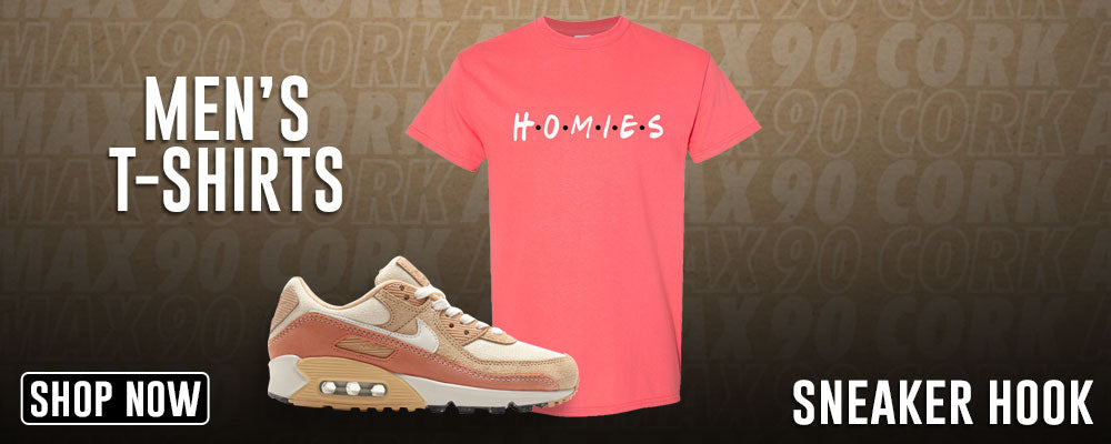 Air Max 90 Cork T Shirts to match Sneakers | Tees to match Nike Air Max 90 Cork Shoes