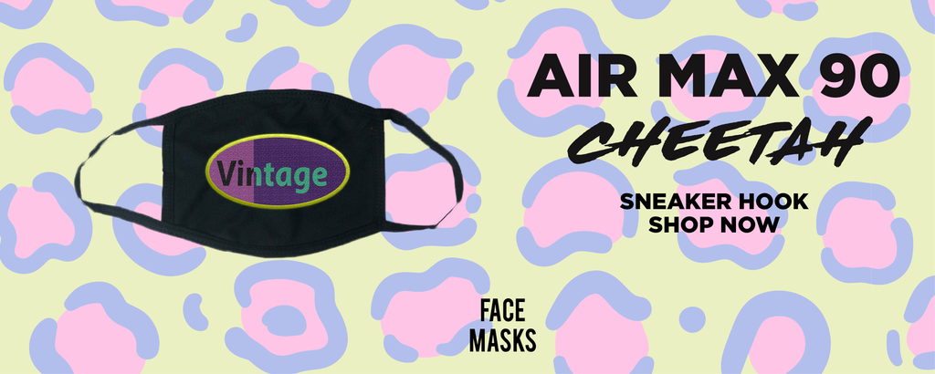 Air Max 90 Cheetah Face Mask to match Sneakers | Masks to match Nike Air Max 90 Cheetah Shoes