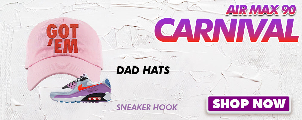 Air Max 90 Carnival Dad Hats to match Sneakers | Hats to match Nike Air Max 90 Carnival Shoes
