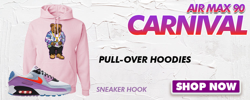 Air Max 90 Carnival Pullover Hoodies to match Sneakers | Hoodies to match Nike Air Max 90 Carnival Shoes