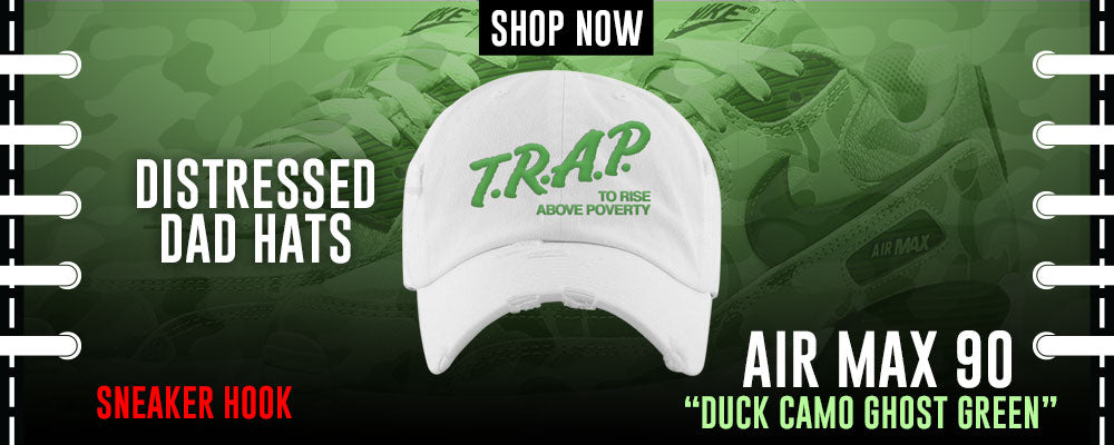 Air Max Duck Camo Ghost Green Distressed Dad Hats to match Sneakers | Hats to match Nike Air Max Duck Camo Ghost Green Shoes