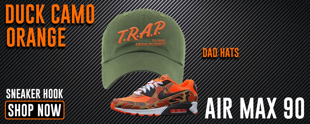 Air Max 90 Duck Camo Orange Dad Hats to match Sneakers | Hats to match NIke Air Max 90 Duck Camo Orange Shoes