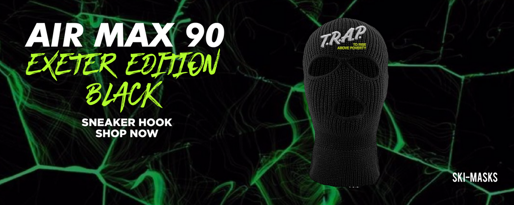 Air Max 90 Exeter Edition Black Ski Masks to match Sneakers | Winter Masks to match Nike Air Max 90 Exeter Edition Black Shoes