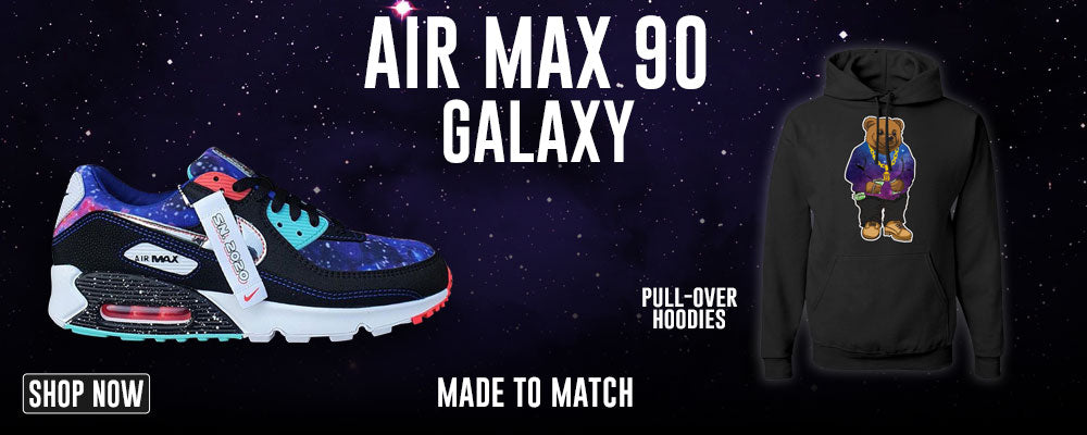 Air Max 90 Galaxy Pullover Hoodies to match Sneakers | Hoodies to match Nike Air Max 90 Galaxy Shoes