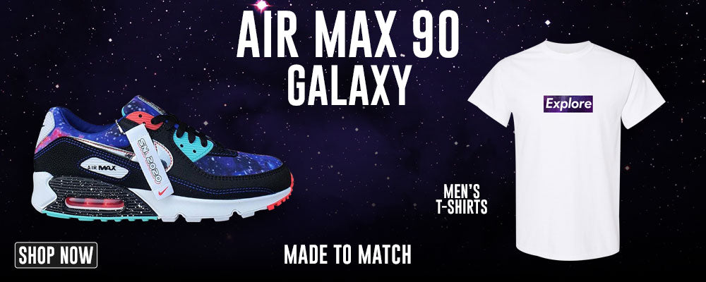 Air Max 90 Galaxy T Shirts to match Sneakers | Tees to match Nike Air Max 90 Galaxy Shoes