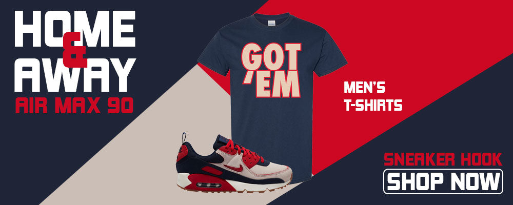 Air Max 90 Home and Away T Shirts to match Sneakers | Tees to match Nike Air Max 90 Home and Away Shoes