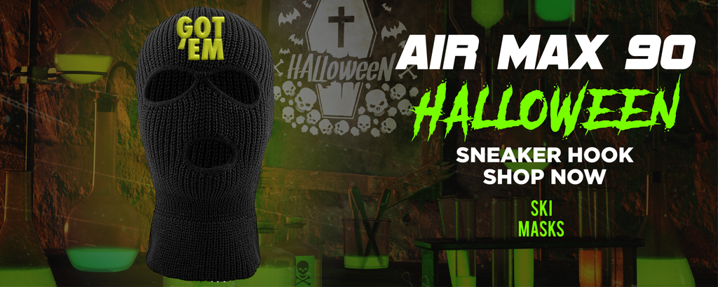 Air Max 90 Halloween Ski Masks to match Sneakers | Winter Masks to match Nike Air Max 90 Halloween Shoes