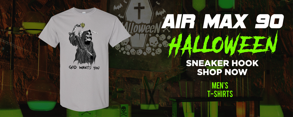Air Max 90 Halloween T Shirts to match Sneakers | Tees to match Nike Air Max 90 Halloween Shoes