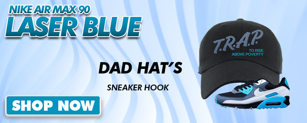Air Max 90 Laser Blue Dad Hats to match Sneakers | Hats to match Nike Air Max 90 Laser Blue Shoes