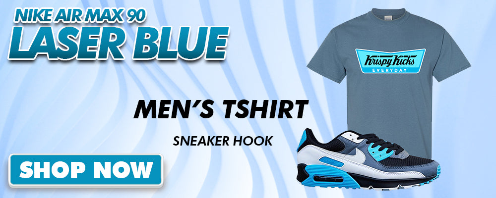 Air Max 90 Laser Blue T Shirts to match Sneakers | Tees to match Nike Air Max 90 Laser Blue Shoes