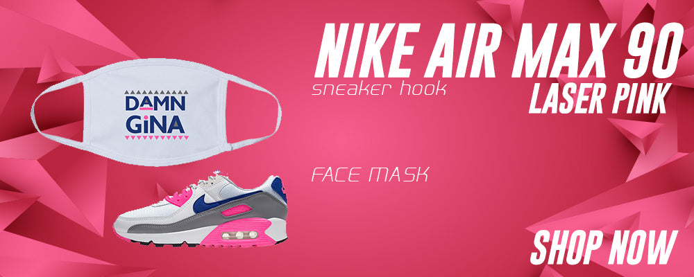 Air Max 90 Laser Pink Face Mask to match Sneakers | Masks to match Nike Air Max 90 Laser Pink Shoes