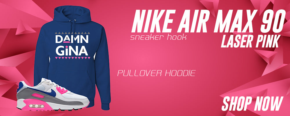 Air Max 90 Laser Pink Pullover Hoodies to match Sneakers | Hoodies to match Nike Air Max 90 Laser Pink Shoes