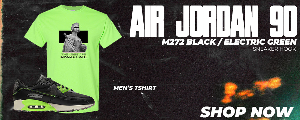 Air Max 90 M272 Black Electric Green T Shirts to match Sneakers | Tees to match Nike Air Max 90 M272 Black Electric Green Shoes