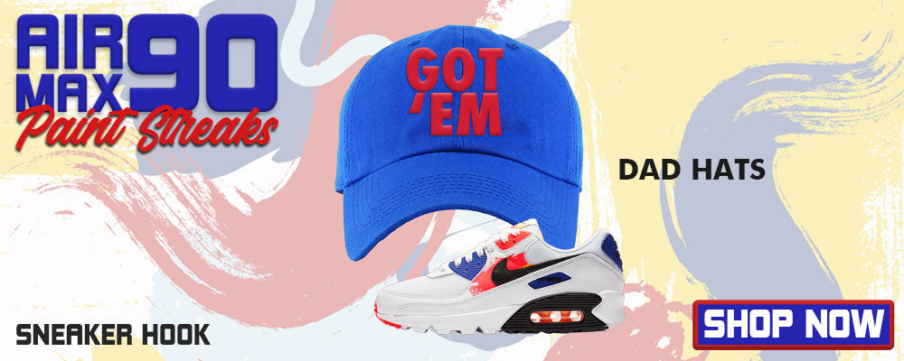 Air Max 90 Paint Streaks Dad Hats to match Sneakers | Hats to match Nike Air Max 90 Paint Streaks Shoes