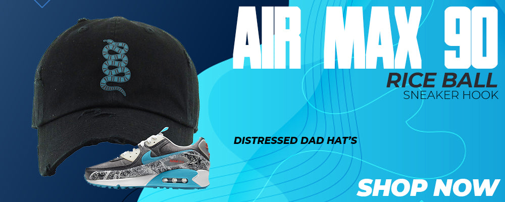 Air Max 90 Rice Ball Distressed Dad Hats to match Sneakers | Hats to match Nike Air Max 90 Rice Ball Shoes
